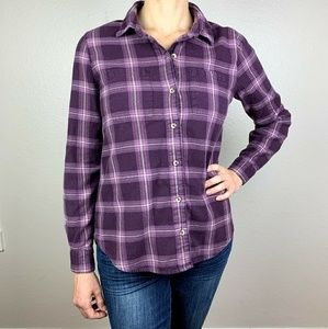 Full Tilt purple plaid button down